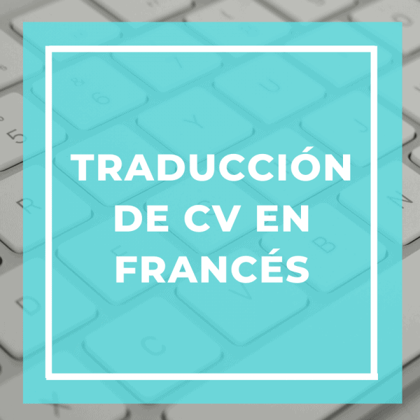 traduccion de cv en frances